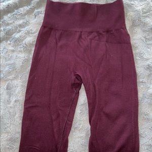 Burgundy aerie leggings